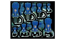 エアーノッカー(付着粉体自動払い落とし装置)